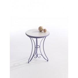 Velador AITANA lila y tapa madera blanco veneciano