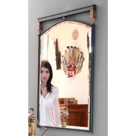 Espejo ROMEA (Verde inglés ferroso y latón medalla)